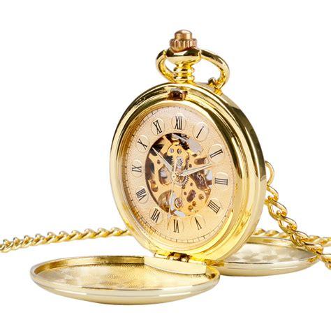 luxury gold pocket mechanical