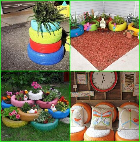 Gardening Diy Ideas Creative Decorations For Tires Creative Ideas For Tires Diy Garden Landscape And