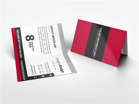 foldable business cards template folded business card mockup v2 by idesignstudio dribbble