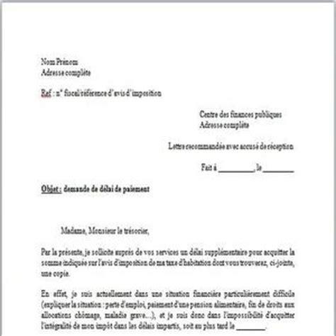 telecharger modele lettre de demande de paiement taxe
