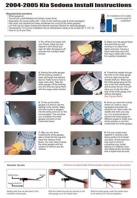 book repair manual 2003 kia optima instrument cluster service manual instruction for a 2004 kia sedona instrument cluster how to open service