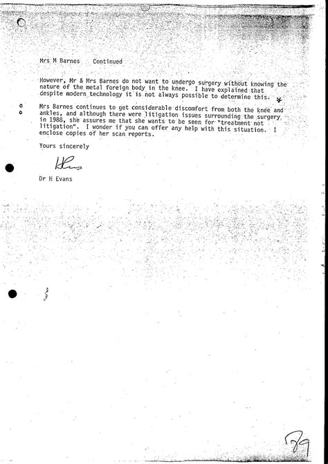 Gp Referral Letter Grics by Nhs Complaints