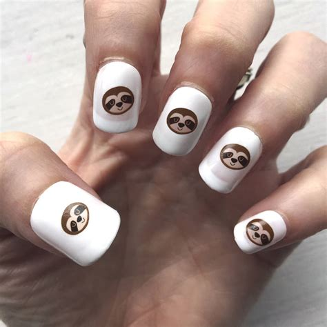 Nail Transfers by Sloth Nail Transfers By Hoobynoo Notonthehighstreet