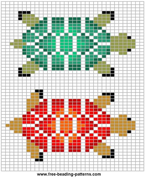 beading patterns basic turtle bead patterns