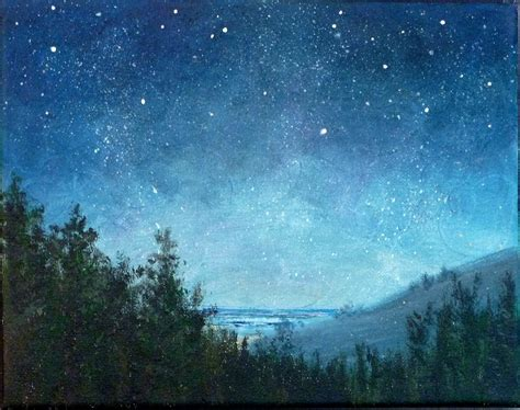 paint nite duration sky small landscape painting 8x10 astronomy