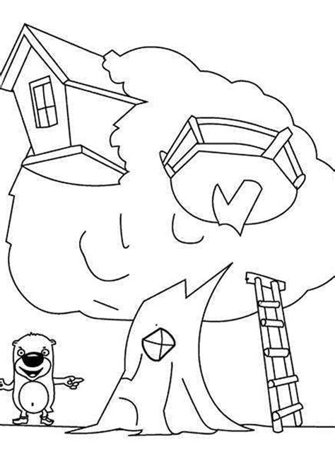 Disney Cartoon Tree House Coloring Pages Free Coloring Pages Disney Tree Coloring Page