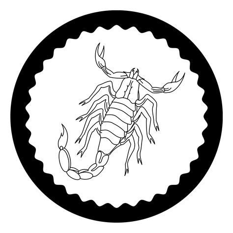 skorpion sternzeichen kostenlose malvorlagen window color fensterbilder zum