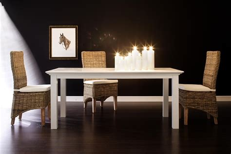 White Wood Dining Room Table | white painted solid wood large dining table halifax 200