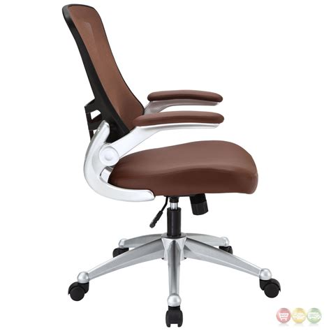 mesh back office chair with lumbar support attainment modern ergonomic mesh back office chair w