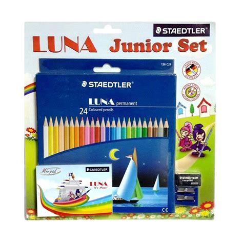 Pensil Warna Set Butterfly jual staedtler junior set pensil warna 24 pcs harga kualitas terjamin blibli