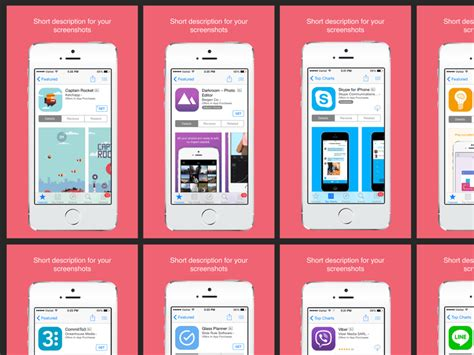 app store screenshot template app store screenshots sketch freebie free