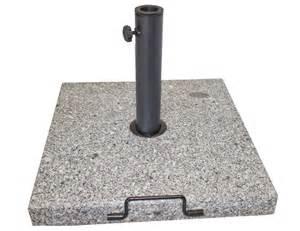 Outdoor Square Granite Umbrella Base With Handle & Wheels