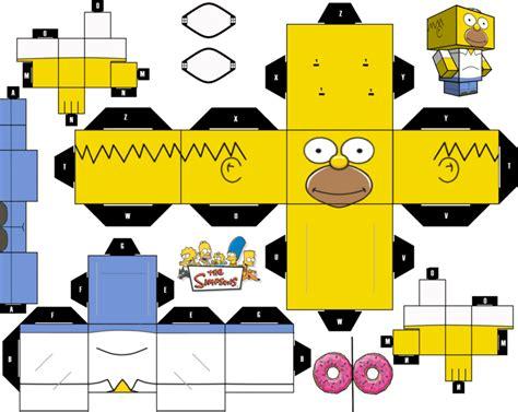 Simpsons Papercraft - homer simpsons cubeecraft by jagamen on deviantart