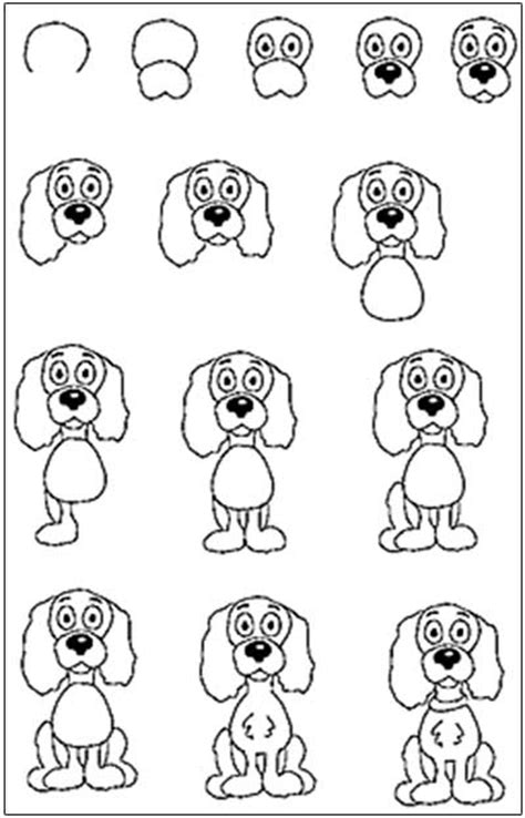 easy to dogs how to draw a step by step for easy