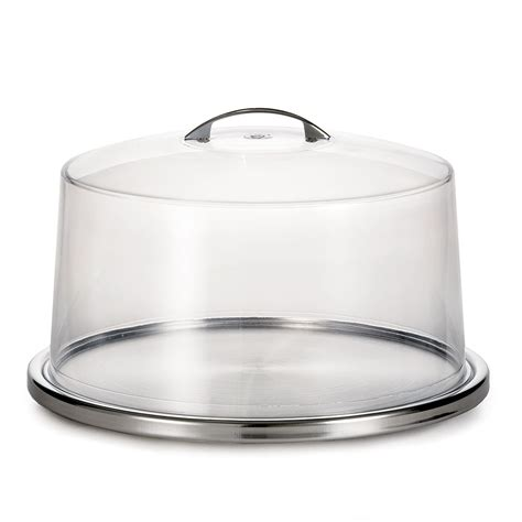 cake plate with cover tablecraft h820p422 12 3 4 quot cake plate with cover clear