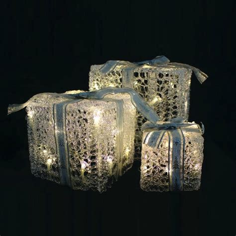 3 piece led light up gift boxes christmas from tj hughes uk