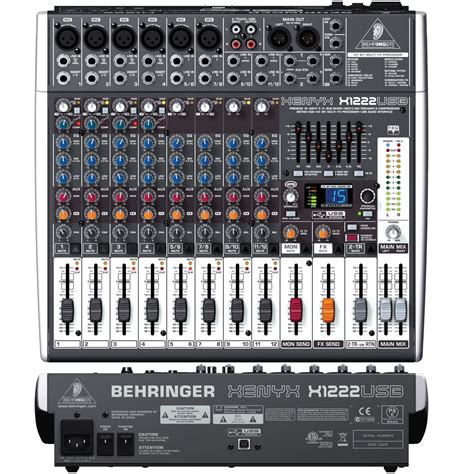 Mixer Audio 16 Ch behringer xenyx x1222usb 16 channel mixer with usb audio