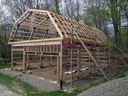 How To Construct A Garage by Build A Modified Post And Beam Frame Lakes House And