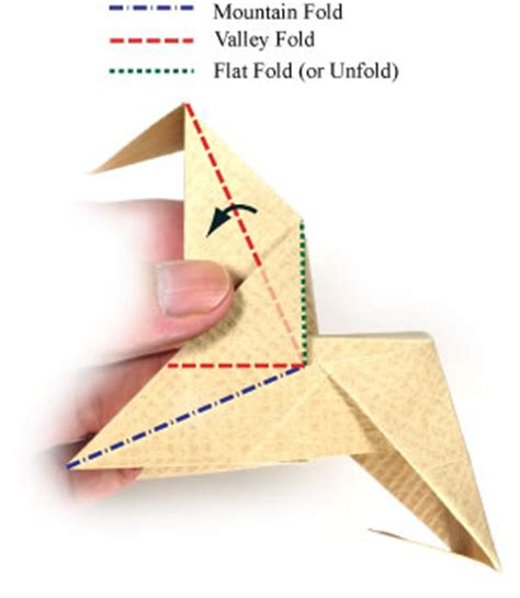 Swivel Fold Origami - how to make an origami chair with triangular legs page 8