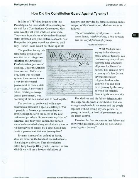 Essay About The Constitution by The Constitution Essay
