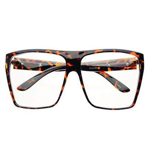 large retro clear lens square flat top eye glasses