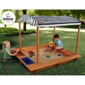 kidkraft backyard sandbox kidkraft outdoor sandbox with canopy walmart