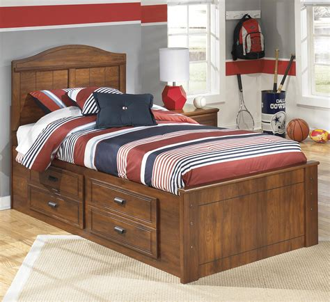 signature design  ashley barchan twin panel bed  underbed storage john  schultz