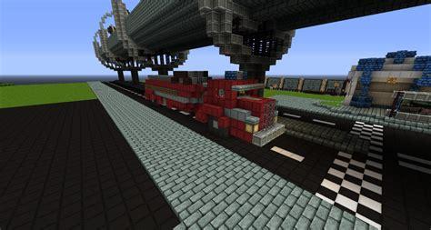 minecraft fire truck modern city creation firetruck minecraft project