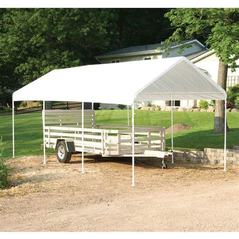 10x20 Metal Carport 10x20 Max Ap 8 Leg Canopy White Shelterlogic 23522