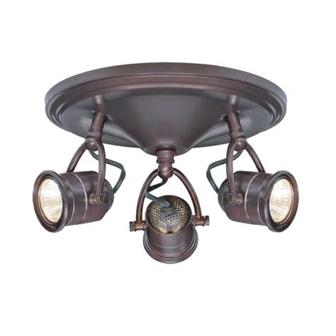 antique brass track lighting 3 light track lighting antique bronze round base pinhole
