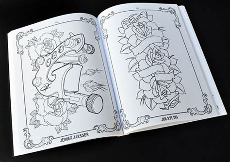 free tattoo pattern books the coloring book project mike devries