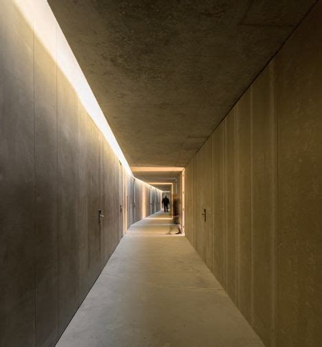 corridor lighting rowing high performance centre in pocinho by alvaro