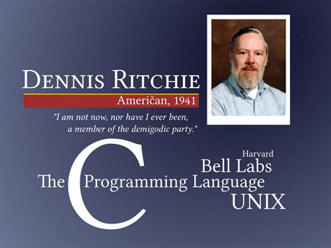 dennis ritchie creator of of c and unix