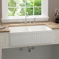 Kitchen Apron Sink 33 Inch Baldwin Bowl Fireclay Farmhouse Kitchen Sink Fluted Apron Modern Kitchen