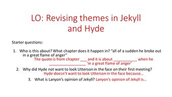 Jekyll And Hyde Theme Questions | jekyll and hyde theme revision by lmac89 teaching