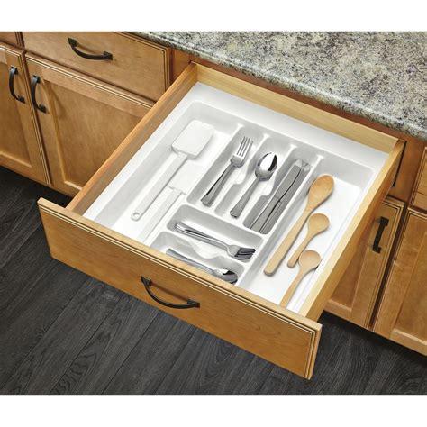 shop rev a shelf 21 25 in x 21 87 in plastic cutlery