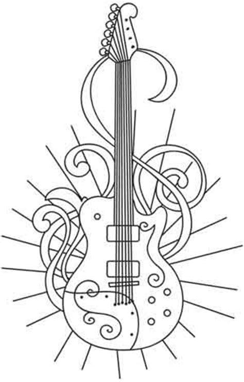 large guitar coloring page large electric guitar page coloring pages