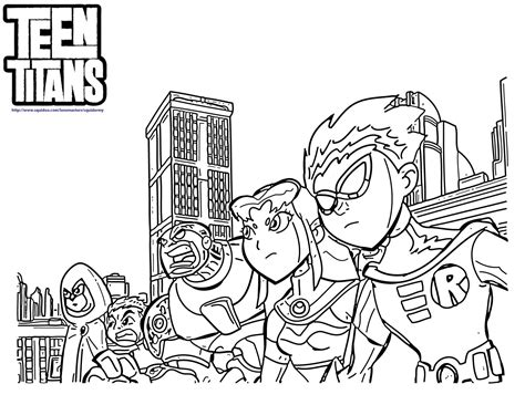 teen titans go coloring pages squid army
