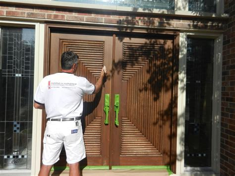 Refinishing Exterior Solid Wood Door And Painting With