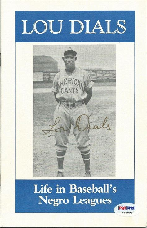 the memorabilia collection of a lifetime books lou dials signed in baseball s negro leagues book psa