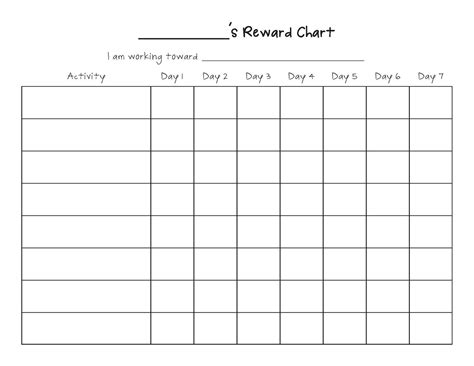 a table chart blank table chart 2 by 5 printables and menu