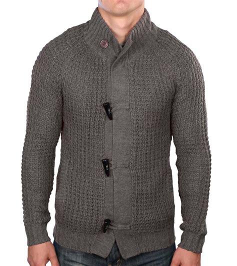 mens knit cardigan true rock s toggle cardigan knit sweater ebay