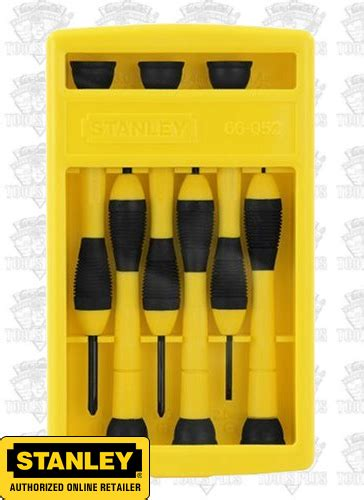 Screwdriver Obeng Plus Stanley Stht65172 8 stanley 66 052 6 precision screwdriver set