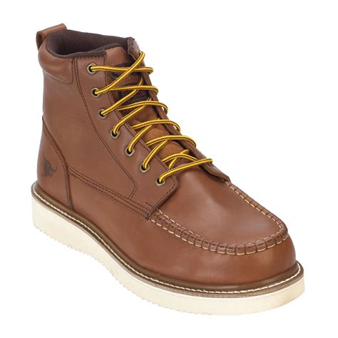 die mens work boots steer s jonah brown leather 8 quot soft toe boot