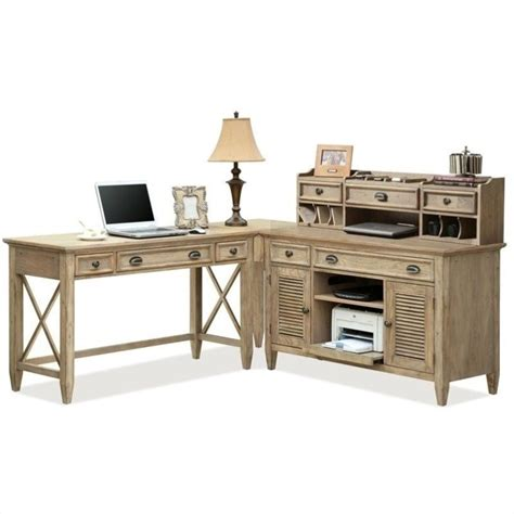 coventry l shape office set in weathered driftwood 3242x