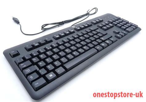 layout usb hp black usb keyboard ku 1156 672647 033 uk layout