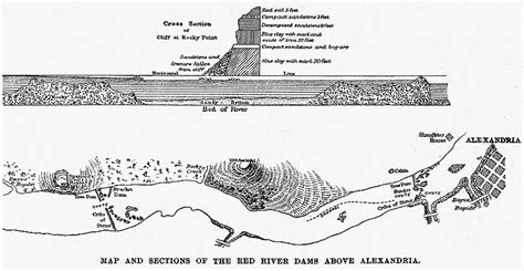 river cross section the red river at alexandria