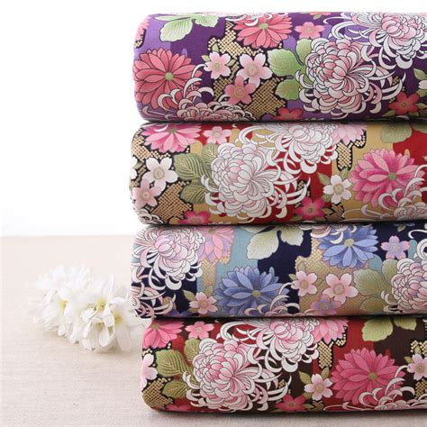 Japanese Patchwork Fabric - 2pcs 110 45cm 4colors printed cotton fabric japanese