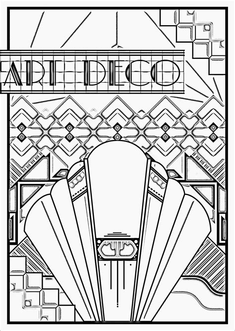 coloring pages art deco art deco poster quot art deco quot coloring pages for adults