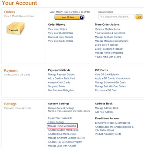 amazon my account free amazon prime membership for quot family members quot
